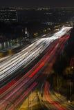 圣地亚哥高速公路洛杉矶夜 库存照片