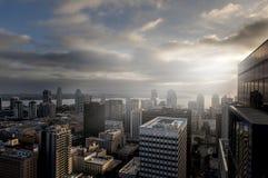 圣地亚哥鸟瞰图  免版税库存图片