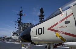 圣地亚哥,加利福尼亚,美国- 2016年3月13日:USS中途在圣地亚哥港口,美国 免版税库存照片