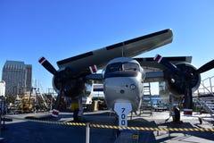 圣地亚哥,加利福尼亚-美国- 12月04,2016 -东部方式航空公司在USS中途博物馆 免版税库存照片