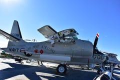 圣地亚哥,加利福尼亚-美国- 12月04,2016 -东部方式航空公司USS中途博物馆 库存图片