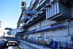 圣地亚哥,加利福尼亚-美国- 12月04,2016 -海军码头的USS中途博物馆 库存图片