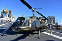 圣地亚哥,加利福尼亚-美国- 12月04,2016 -海军直升机武装直升机USS博物馆 库存图片