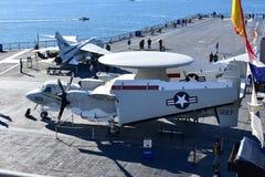 圣地亚哥,加利福尼亚-美国- 12月04,2016 -航空器跑道USS中途博物馆 库存照片