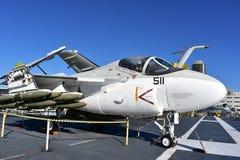 圣地亚哥,加利福尼亚-美国- 12月04,2016 -航空器511中途博物馆 免版税图库摄影