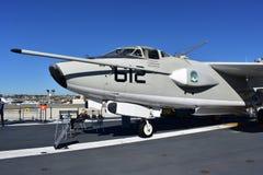 圣地亚哥,加利福尼亚-美国- 12月04,2016 -航空器612在USS中途博物馆 免版税库存图片