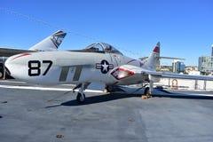 圣地亚哥,加利福尼亚-美国- 12月04,2016 -航空器87在USS中途博物馆 库存照片