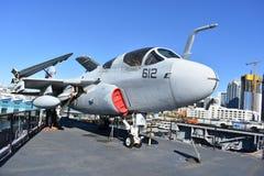 圣地亚哥,加利福尼亚-美国- 12月04,2016 -航空器612在USS中途博物馆 库存照片