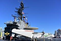 圣地亚哥,加利福尼亚-美国- 12月04,2016 -航空器602 USS中途博物馆 免版税库存照片