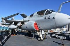 圣地亚哥,加利福尼亚-美国- 12月04,2016 -航空器612 USS中途博物馆 库存照片