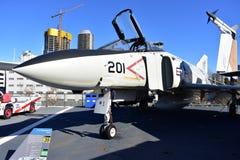 圣地亚哥,加利福尼亚-美国- 12月04,2016 -航空器F/A - 18幽灵II 图库摄影