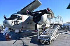 圣地亚哥,加利福尼亚-美国- 12月04,2016 - USS中途博物馆东部方式航空公司 库存照片