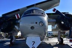 圣地亚哥,加利福尼亚-美国- 12月04,2016 - USS中途博物馆Eastway航空器 免版税库存照片