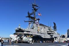 圣地亚哥,加利福尼亚-美国- 12月04,2016 - USS中途航空器博物馆 图库摄影