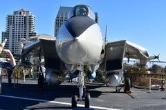 圣地亚哥,加利福尼亚-美国- 12月04,2016 - USS航空器中途博物馆 免版税库存图片