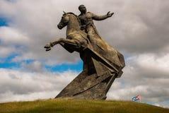 圣地亚哥,古巴:安东尼奥马塞奥纪念碑 马塞奥将军是一位著名游击队员独立领导 找出雕塑 免版税库存照片