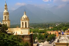 圣地亚哥,新莱昂州,墨西哥 免版税图库摄影
