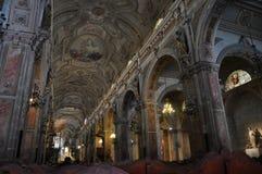 圣地亚哥,智利大教堂  免版税库存图片