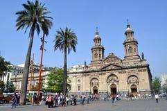圣地亚哥,智利大教堂  免版税图库摄影