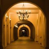圣地亚哥巴波亚公园走廊 库存照片