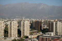 圣地亚哥de智利全景  库存照片