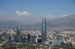圣地亚哥de智利全景  库存图片