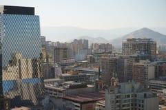 圣地亚哥de智利全景  免版税库存照片