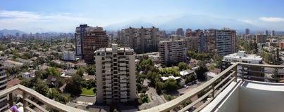 圣地亚哥paboramic的智利 免版税图库摄影
