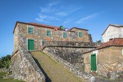 圣地何塞da Ponta Grossa堡垒-弗洛里亚诺波利斯,圣卡塔琳娜州,巴西 免版税图库摄影