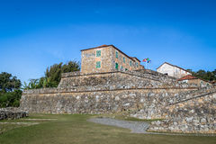 圣地何塞da Ponta Grossa堡垒-弗洛里亚诺波利斯,圣卡塔琳娜州,巴西 免版税库存照片