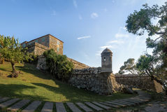 圣地何塞da Ponta Grossa堡垒-弗洛里亚诺波利斯,圣卡塔琳娜州,巴西 图库摄影