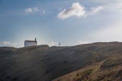 圣地佩德罗dos Pescadores -费尔南多・迪诺罗尼亚群岛, Pernambuco,巴西教堂  图库摄影