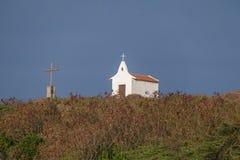 圣地佩德罗dos Pescadores -费尔南多・迪诺罗尼亚群岛, Pernambuco,巴西教堂  库存照片