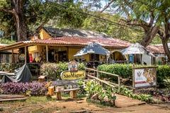 圣地华腴正方形的-费尔南多・迪诺罗尼亚群岛, Pernambuco,巴西米格尔餐馆 免版税库存照片