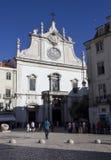圣地多明戈斯教会在里斯本 库存图片