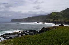 圣地米格尔海岛的迷人的海湾 库存图片