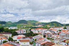 圣地米格尔海岛,亚速尔群岛,葡萄牙风景  免版税库存照片