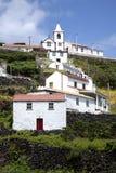圣地豪尔赫,亚速尔群岛海岛的山村  免版税库存图片
