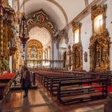 圣地Bento修道院,建造在哥特式(修道院)和巴洛克式的(教会)样式 免版税库存照片