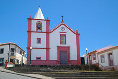 圣地Bento, Angra,亚速尔群岛教会  库存图片