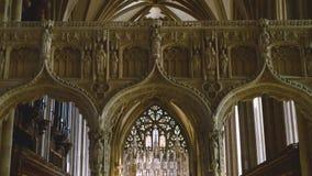 圣坛屏在布里斯托尔大教堂里 免版税图库摄影