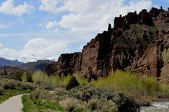 圣城土坎,怀俄明,外部黄石国家公园 免版税库存图片