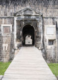 圣基茨岛,硫磺小山堡垒 免版税库存照片