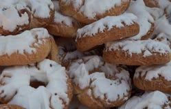 圣塔克拉拉油炸圈饼,典型在圣伊西德罗庆祝在马德里 库存图片