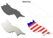 圣塔克鲁兹县,加利福尼亚概述地图集合 库存照片