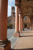 圣塔切奇利娅讲说术在波隆纳,意大利 库存图片
