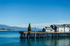 圣塔巴巴拉码头视图 免版税库存图片