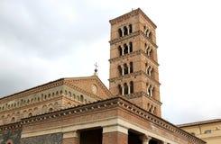 圣塔玛丽亚修道院在Grottaferrata,意大利 库存图片