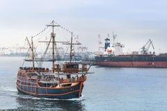 圣塔玛丽亚巡航,大阪海湾,日本 免版税库存图片