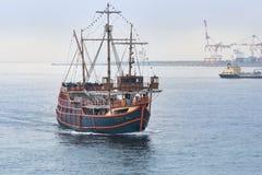 圣塔玛丽亚巡航,大阪海湾,日本 库存照片